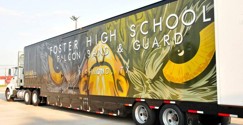 Foster High School Lamar CISD Marching Band Semi Trailer