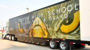 Foster High School Lamar CISD Marching Band Semi Trailer
