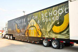 Foster High School Marching Band Semi Equipment Trailer