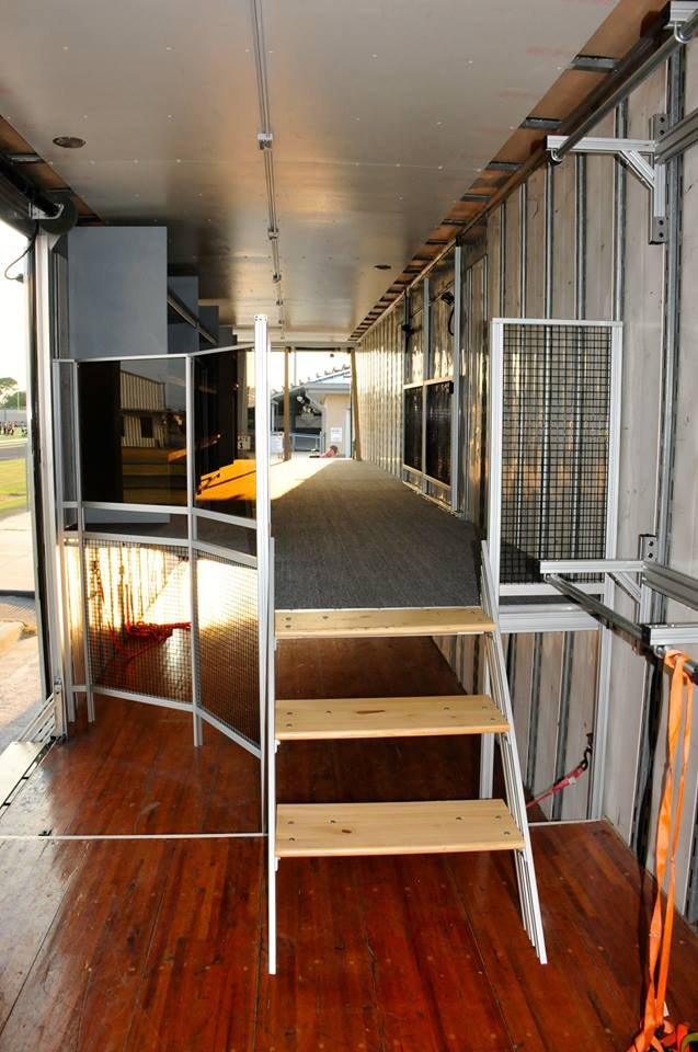 Foster High School Marching Band Semi Trailer Interior