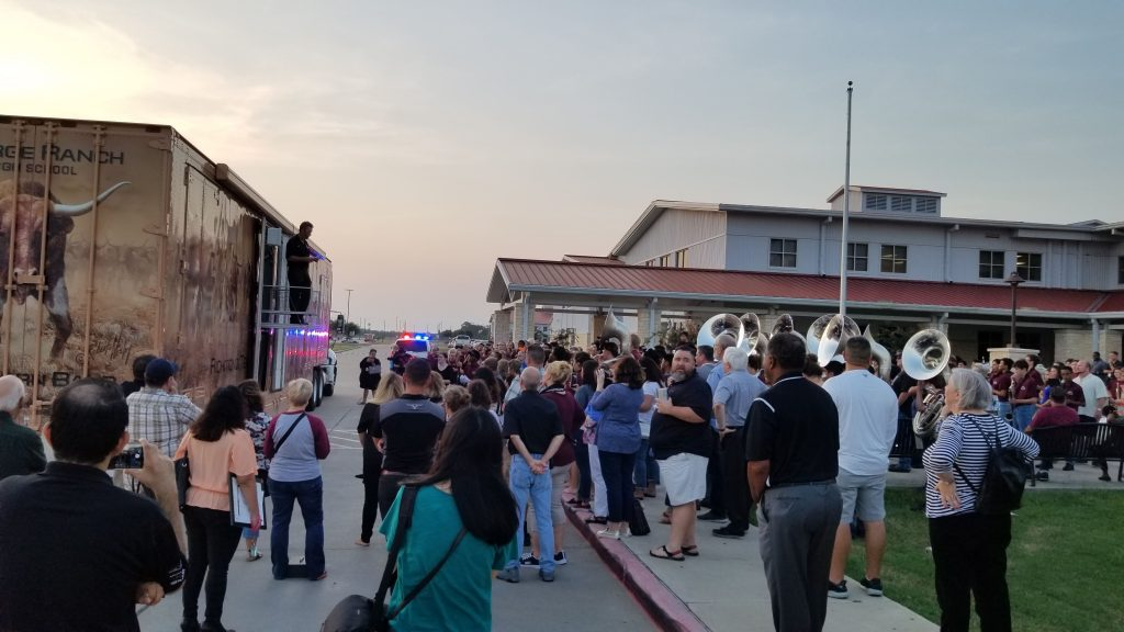George Ranch High School Marching Band Semi Equipment Trailer Unveiling