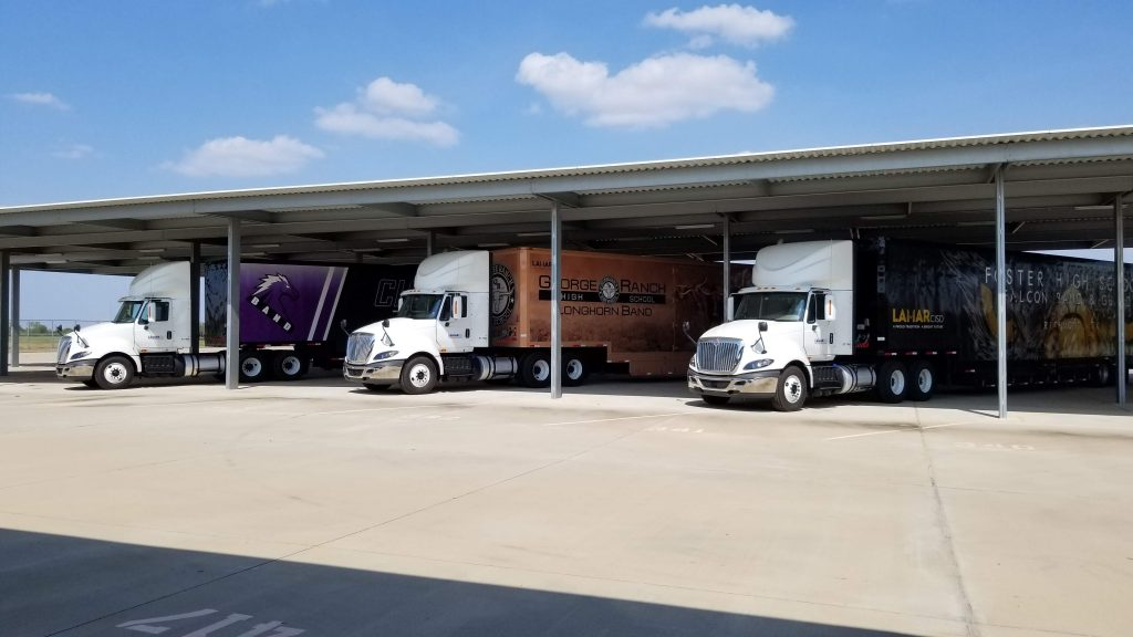 Three Marching Band Equipment Semi  trailers for Lamar Consolidated Independent High School