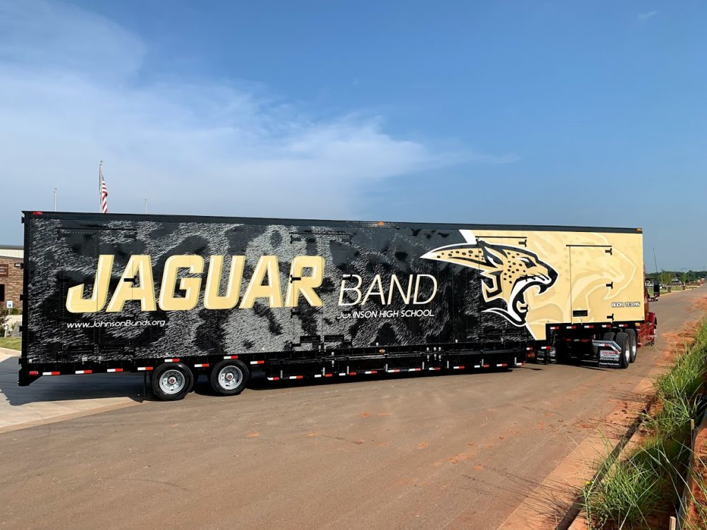 Jackson High School Marching Band Semi Equipment Moving Trailer