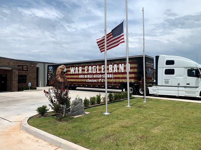Oak Ridge High School Marching Band Semi Trailer Equipment Moving Van Flag Graphics Wrap